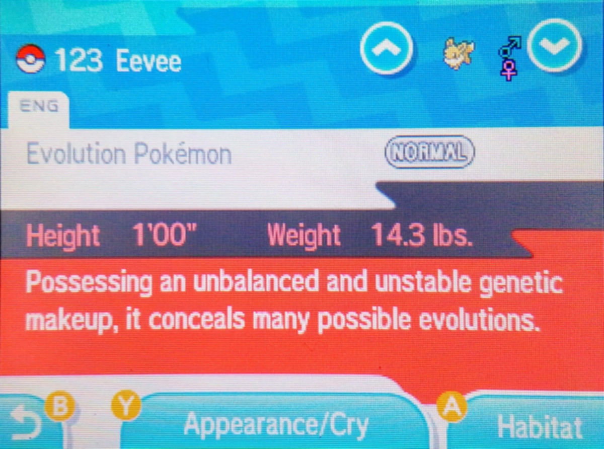 Eevee has the potential to evolve into eight different Pokemon!