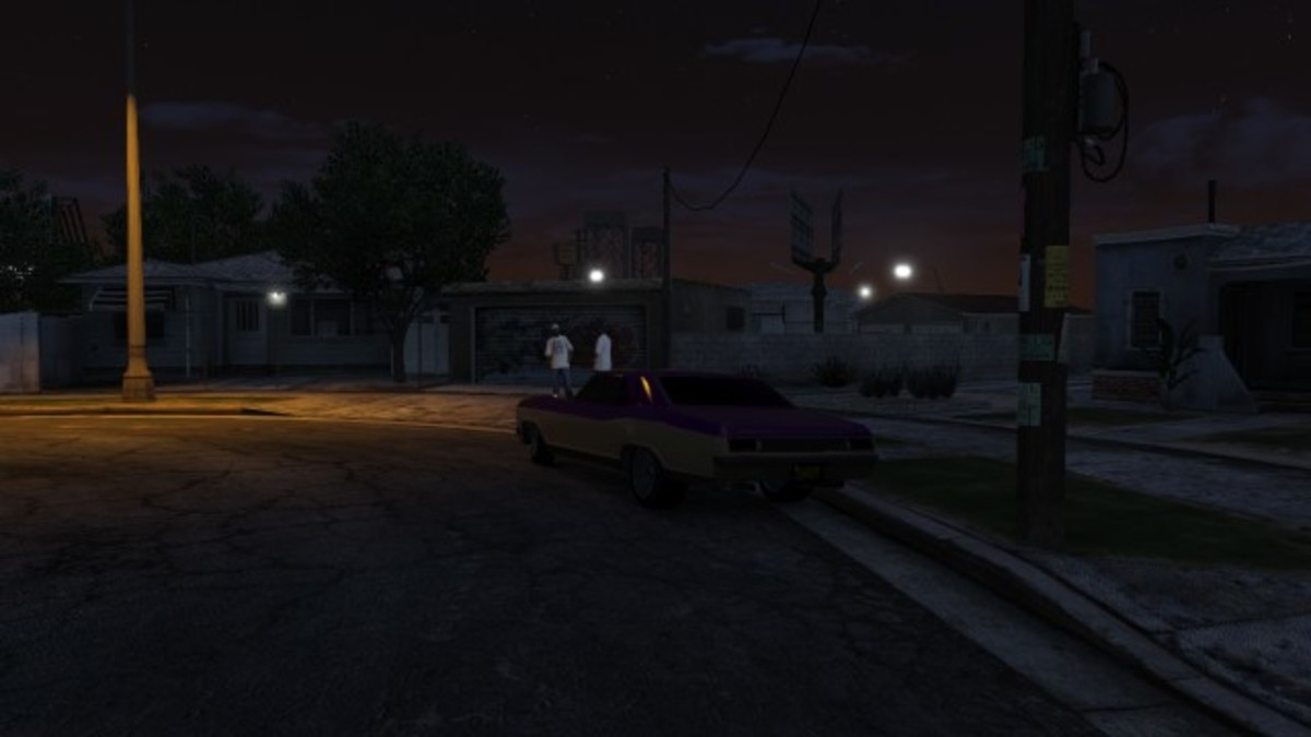 The Ballas gang car isn't as common as others but it's always parked like this.