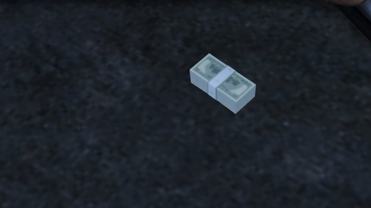 Collect cash dropped on the ground by simply walking over it.