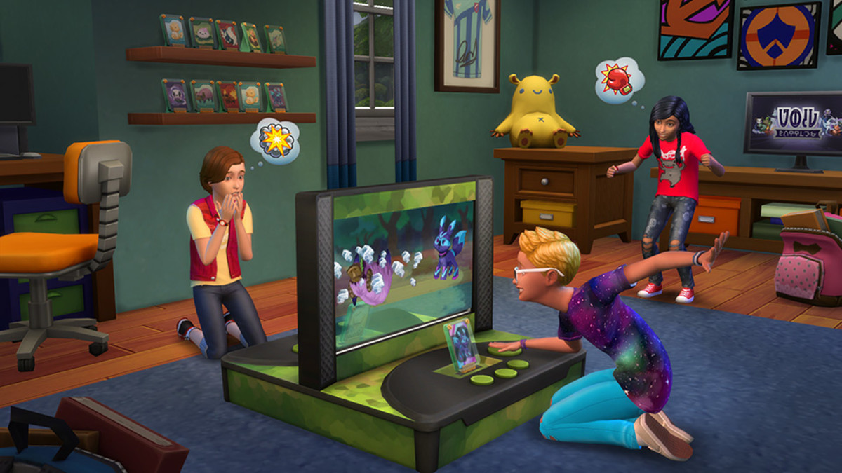 Battle other Sim children in the Kids Room Stuff pack.