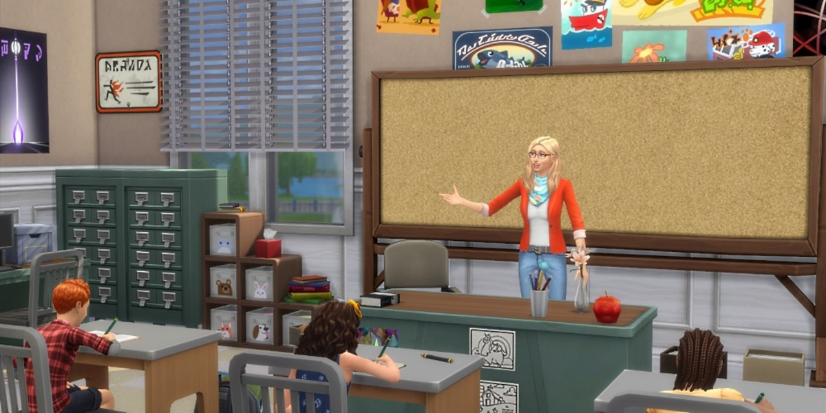 Have your Sims be a teacher with Cubic's Education Career!  (click the link below the picture to go to the download page)