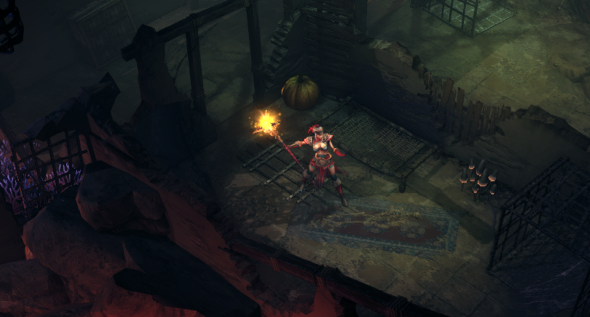 Evia explores the Ruins of the Outlands, discovering a long-dead body in the process. Lovely.