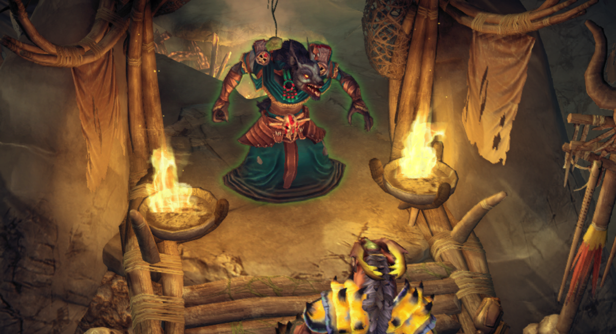 Zaar speaks to Ataka Darkfang, who gives you a Supply Manifest in exchange for some vows of renewed fealty.