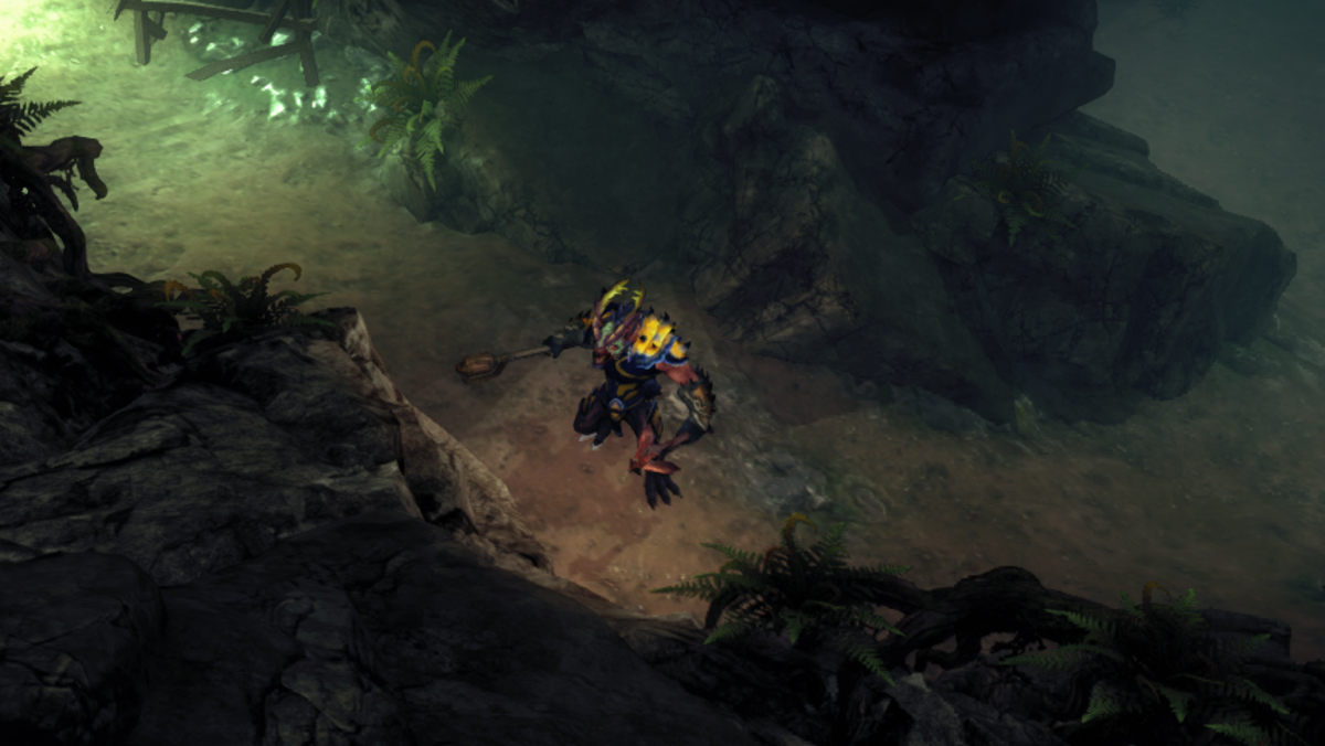 Zaar hunts the Underground of Broken Spear Pass while searching for Kiri Malfagon. (He's about a hundred feet from her at this point.)