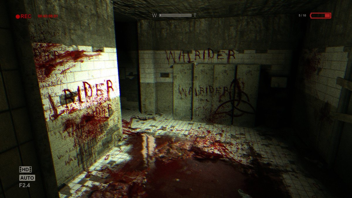 "This is one of the many gruesome scenes in the first ""Outlast"" game."