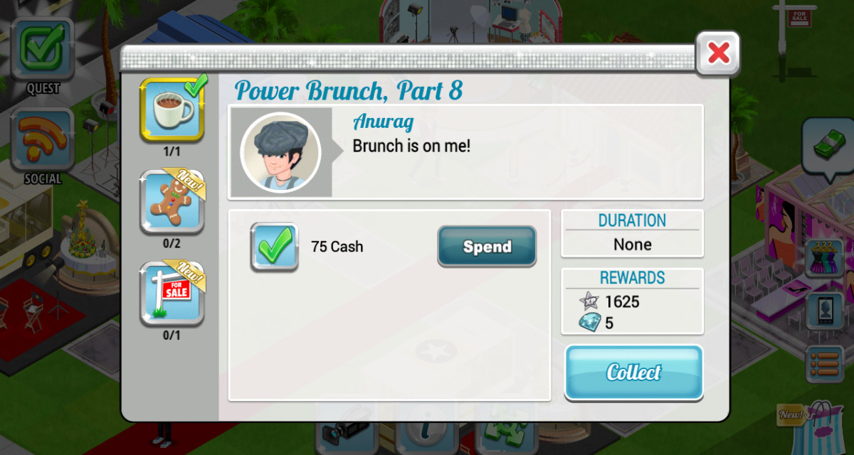 Story-based quests will help you level up and earn some money.