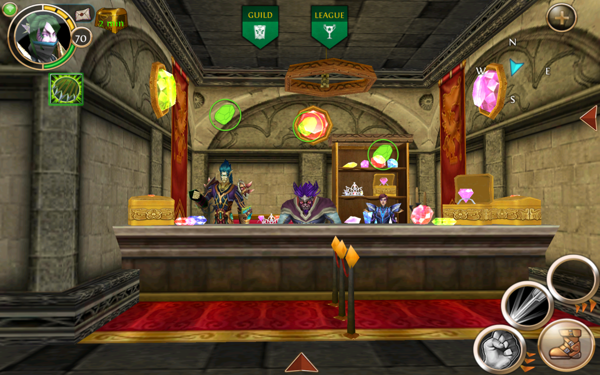"Gem Sellers in Greenmont, ""Order and Chaos Online"""