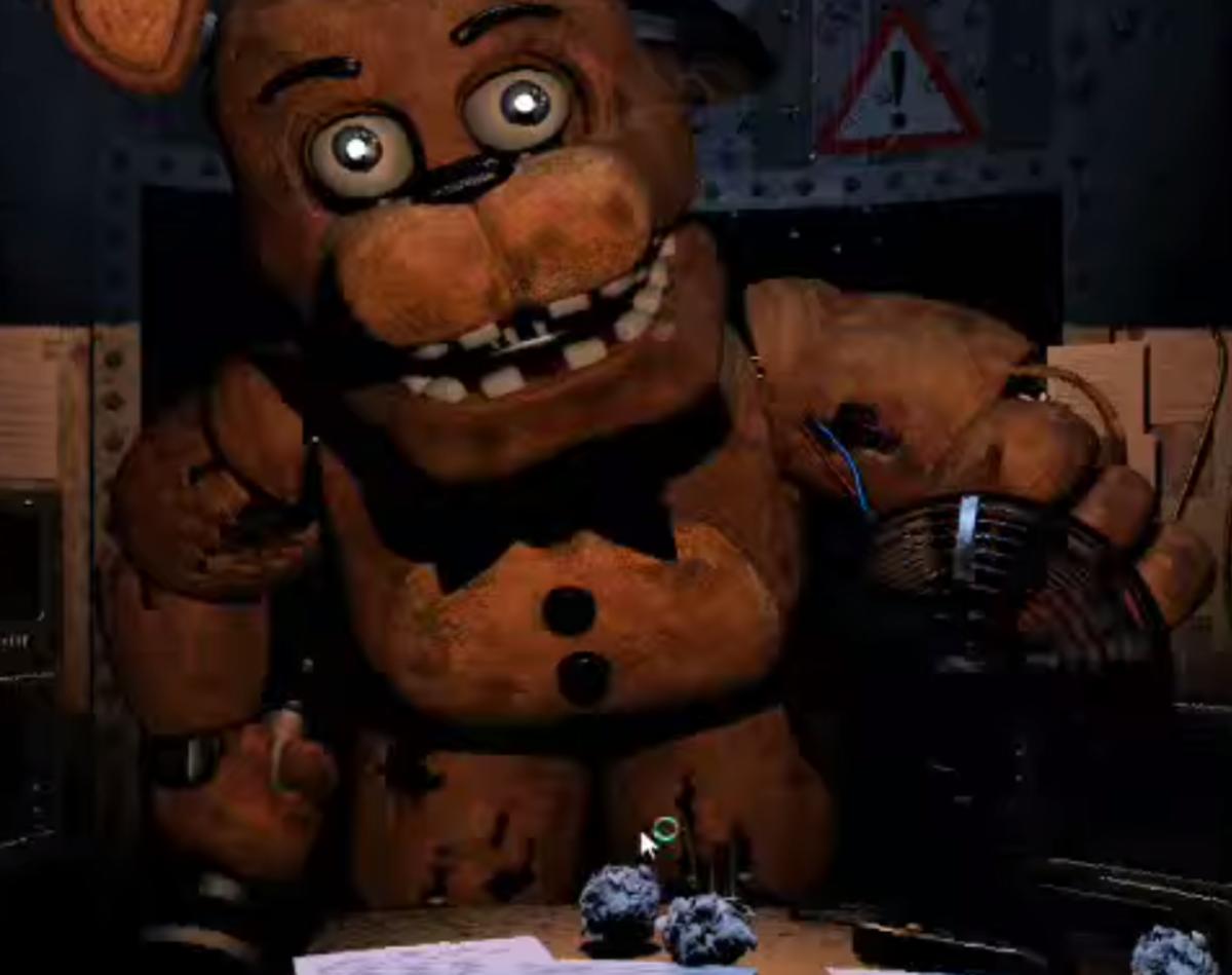 Freddy leans in for a hug. He's so friendly.