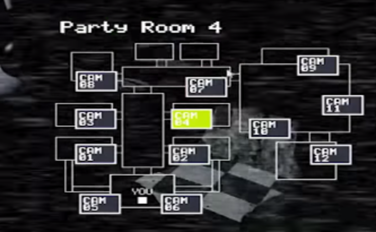 The camera layout. With one incredibly important exception, the cameras will probably go unused in Five Nights at Freddy's 2. Sadface.