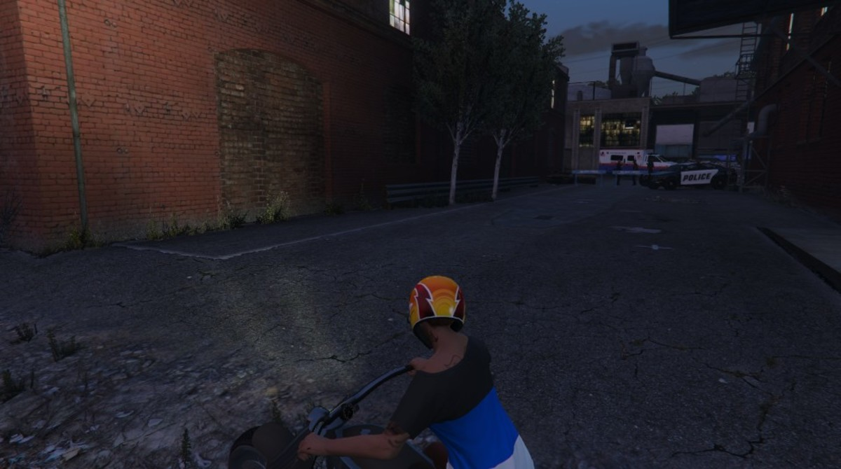 Here get the motorcycle facing the other direction before you start your attack.