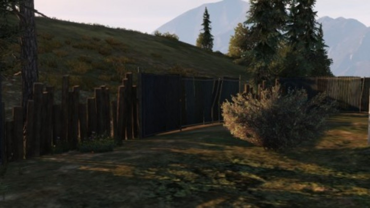 A weak part of the fence you can drive through to escape from the meth lab faster.