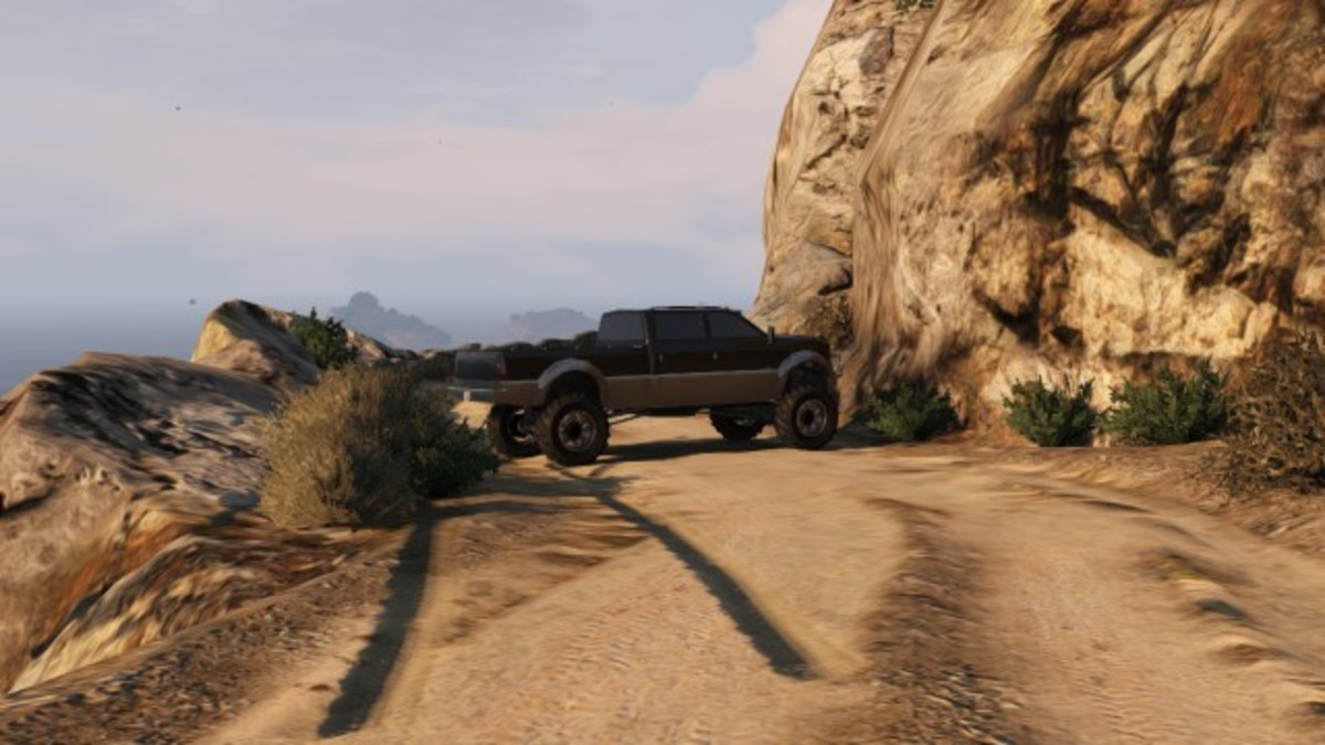 Park your Sandking, or large vehicle, like this along the dirt road.