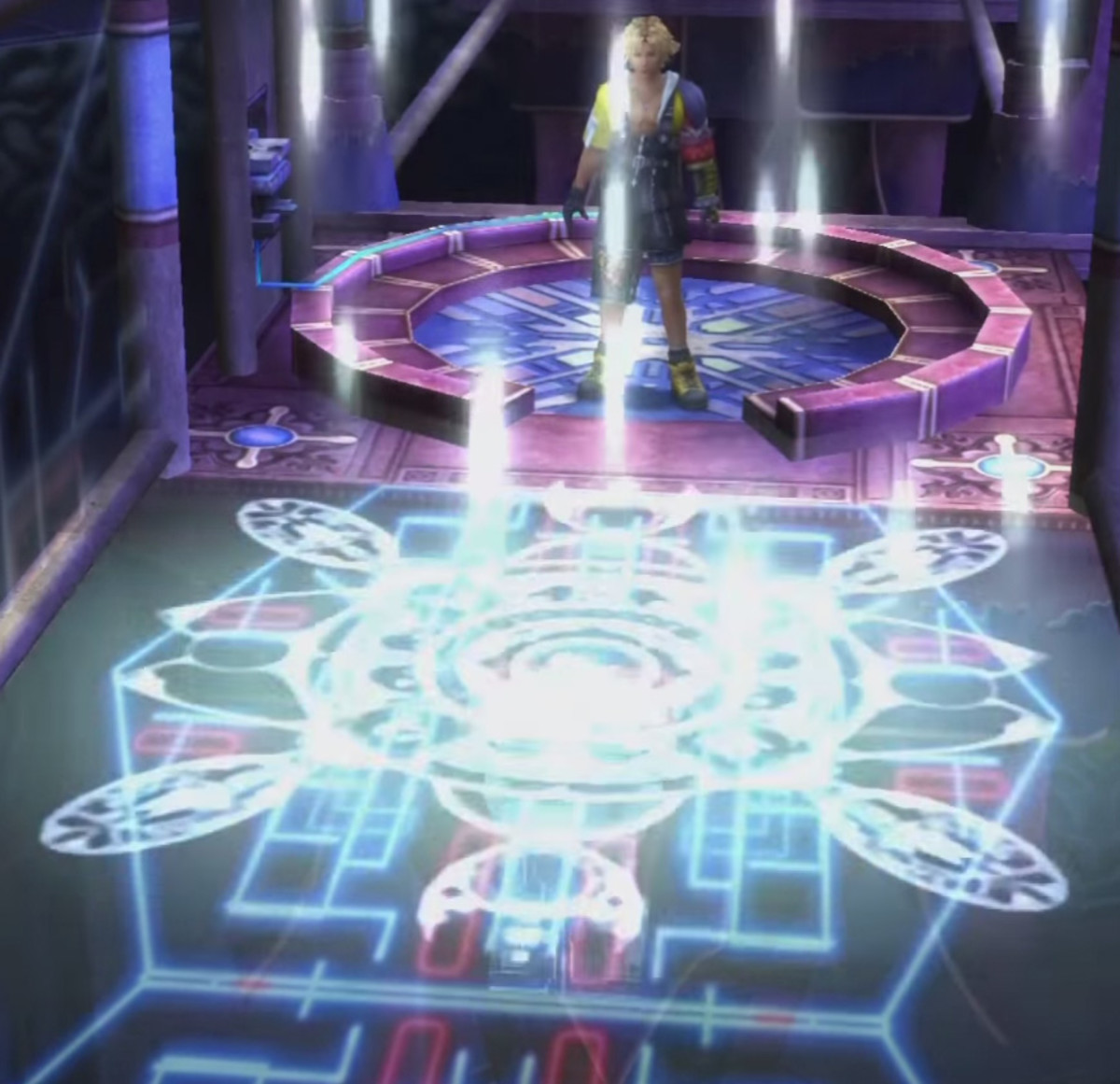 Bahamut's summoning glyph in the Bevelle Cloister of Trials.