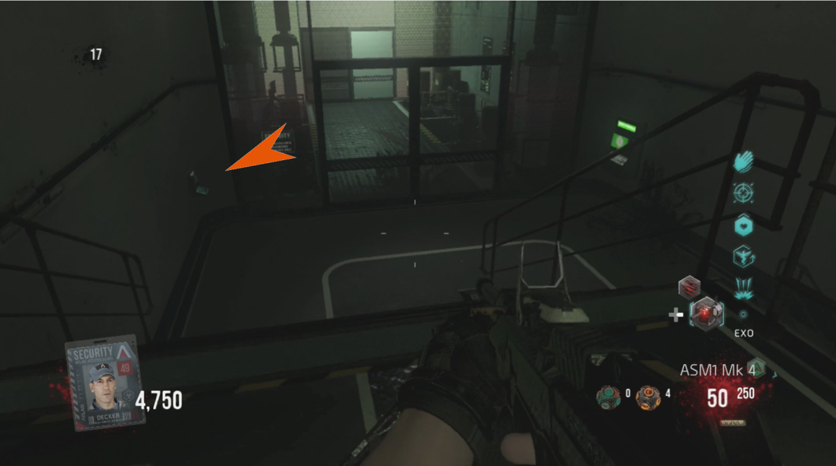 Decker's Hand Scanner is found in the Exo Testing Area.