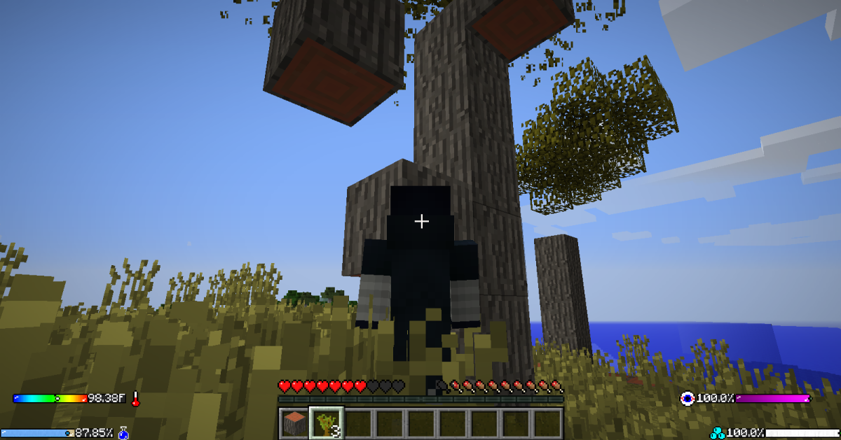 The physics engine even applies to trees, so be careful when cutting/punching them down.
