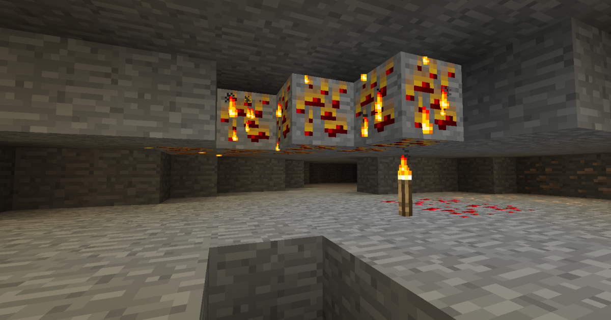 Now you have to be careful about where you place torches, as they can burn nearby wood and coal.