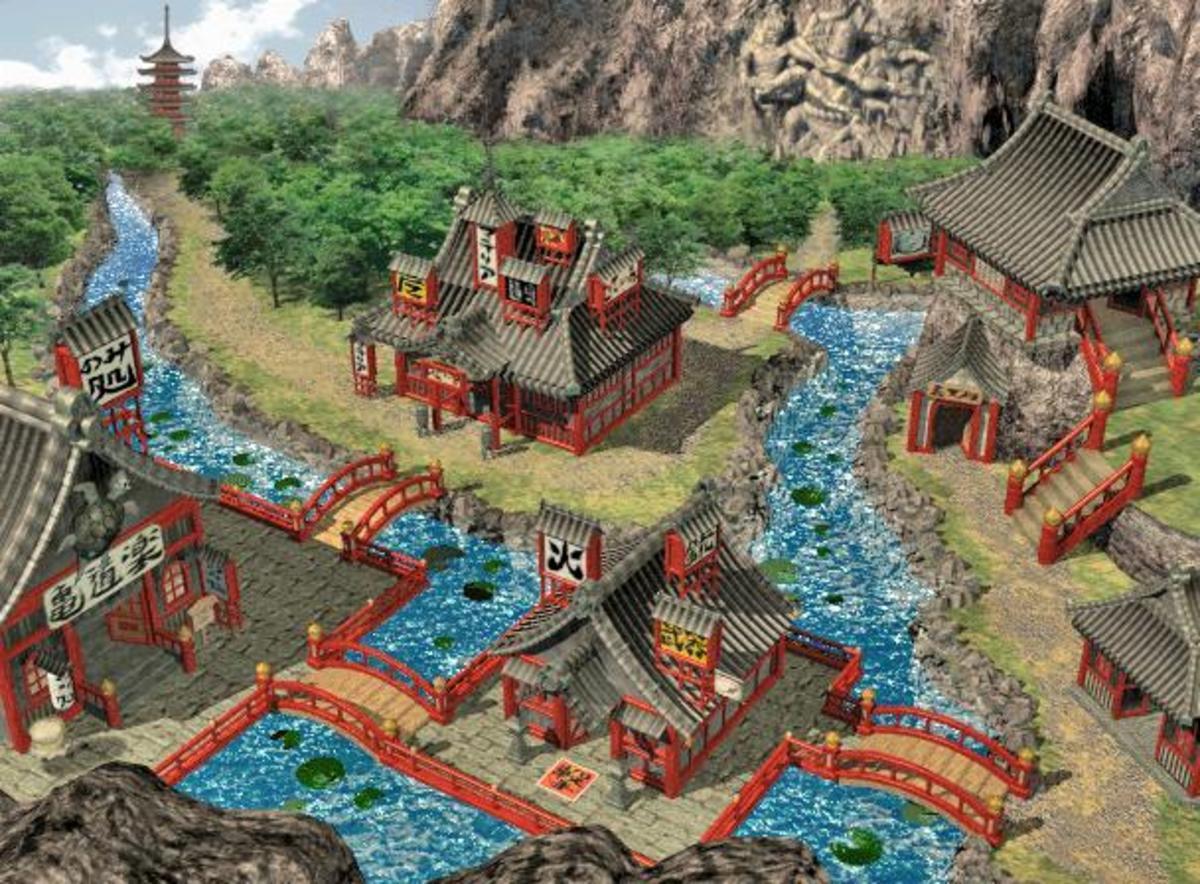 The village of Wutai.