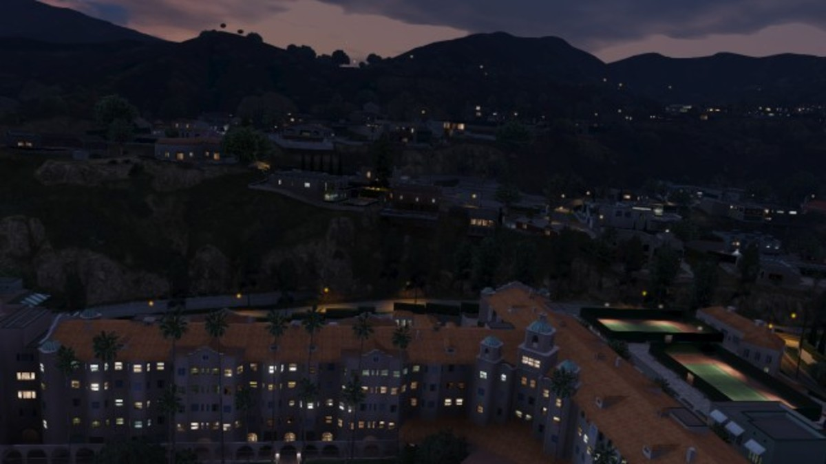 Juror's house in Vinewood Hills. Approach from this direction to bombard their back deck. (lol that doesn't sound right...)