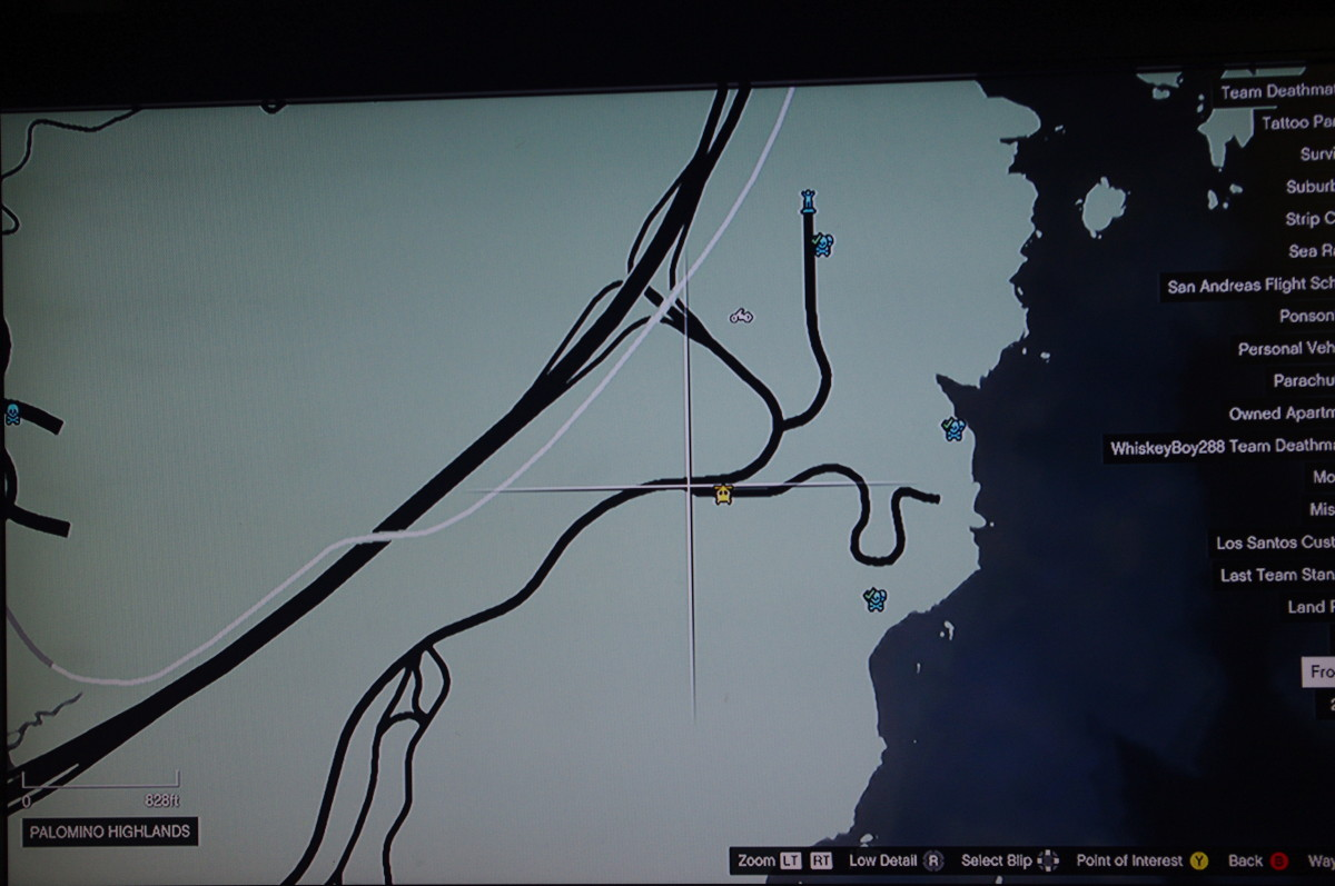 The gang boss' helicopter goes to this area on the map, the same location as the mission Coasting.