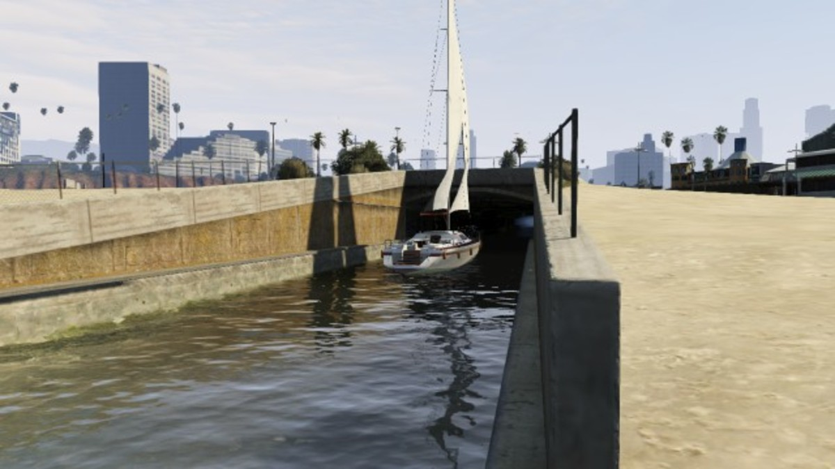 Somehow the AI path thinks it's a a great idea to go through a tunnel in a sail boat...
