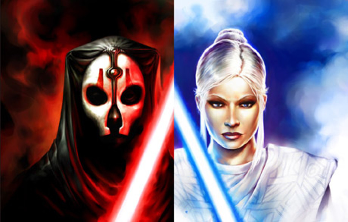 Knights of the Old Republic allows you to choose the Light or Dark Side