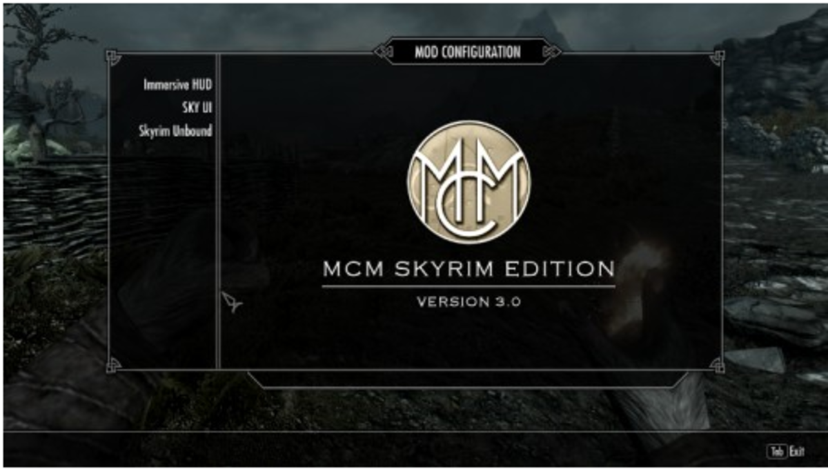 The Mod Configuration Menu (MCM) an essential part of SkyUI a Skyrim mod.