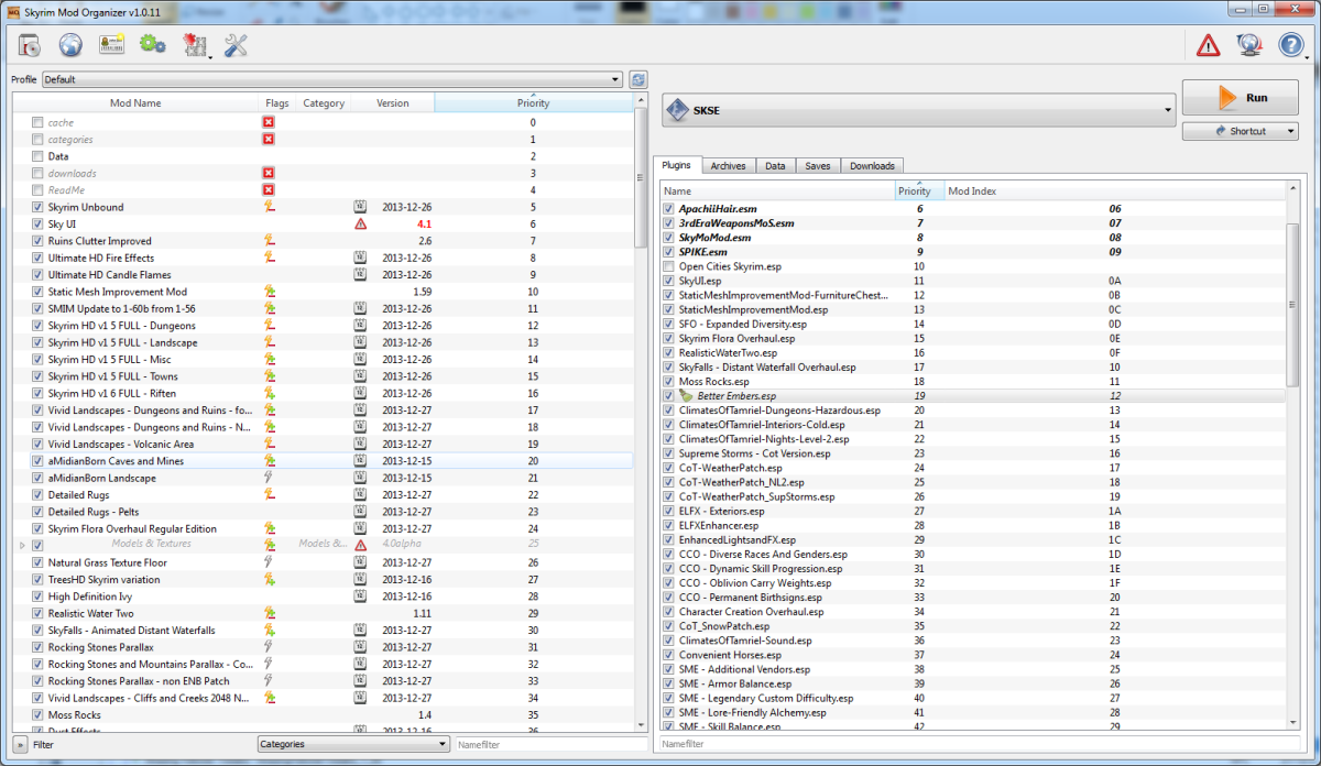 Mod Organizer, an advanced mod management application for all your Skyrim mods.