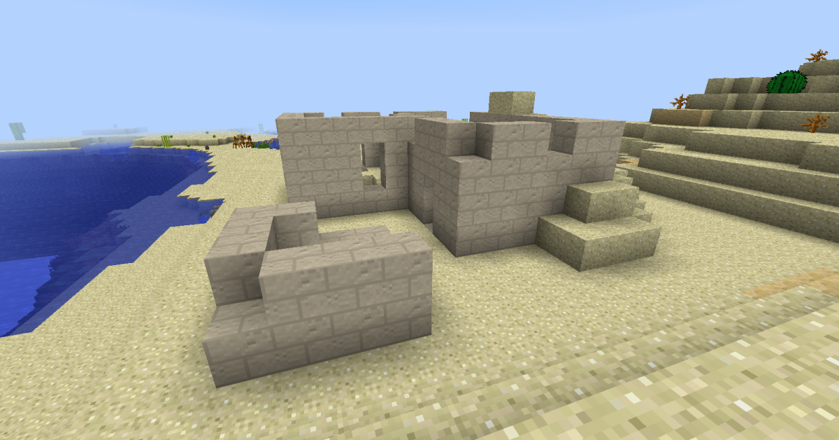 Ruins are just as common as functional buildings, and are often worth searching through for coins or building materials.