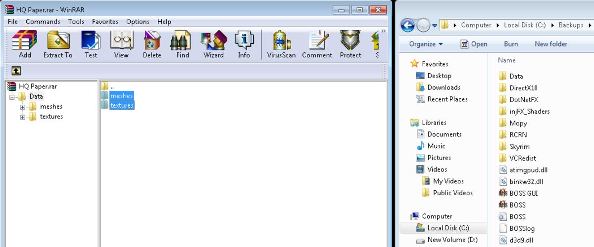 How to manually copy a mod to your Skyrim game folder.