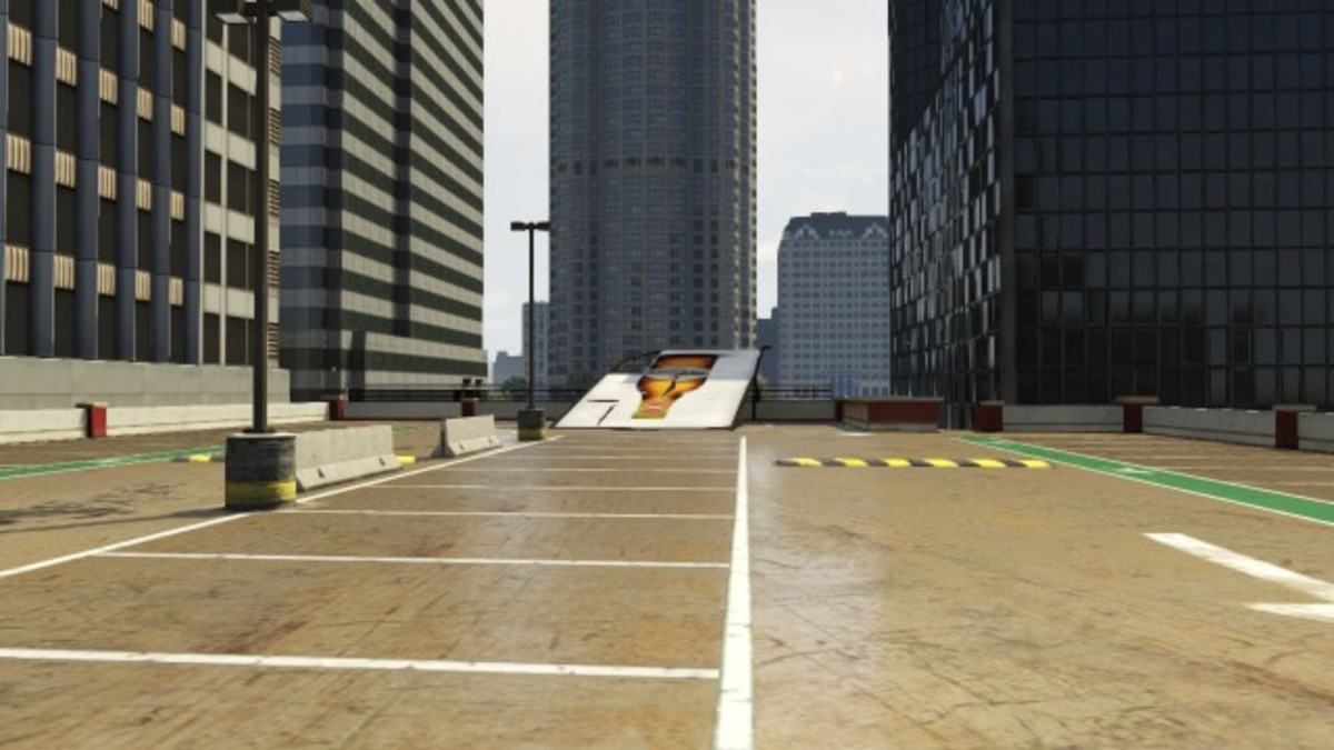 The Stunt Jump, at the top of the paring garage, that you should use to escape. (If you need to).