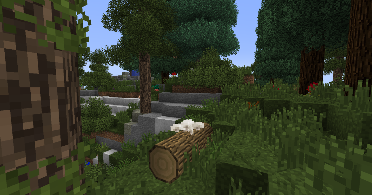Rounded logs are an especially cool, but slightly glitchy, new part of the mod.
