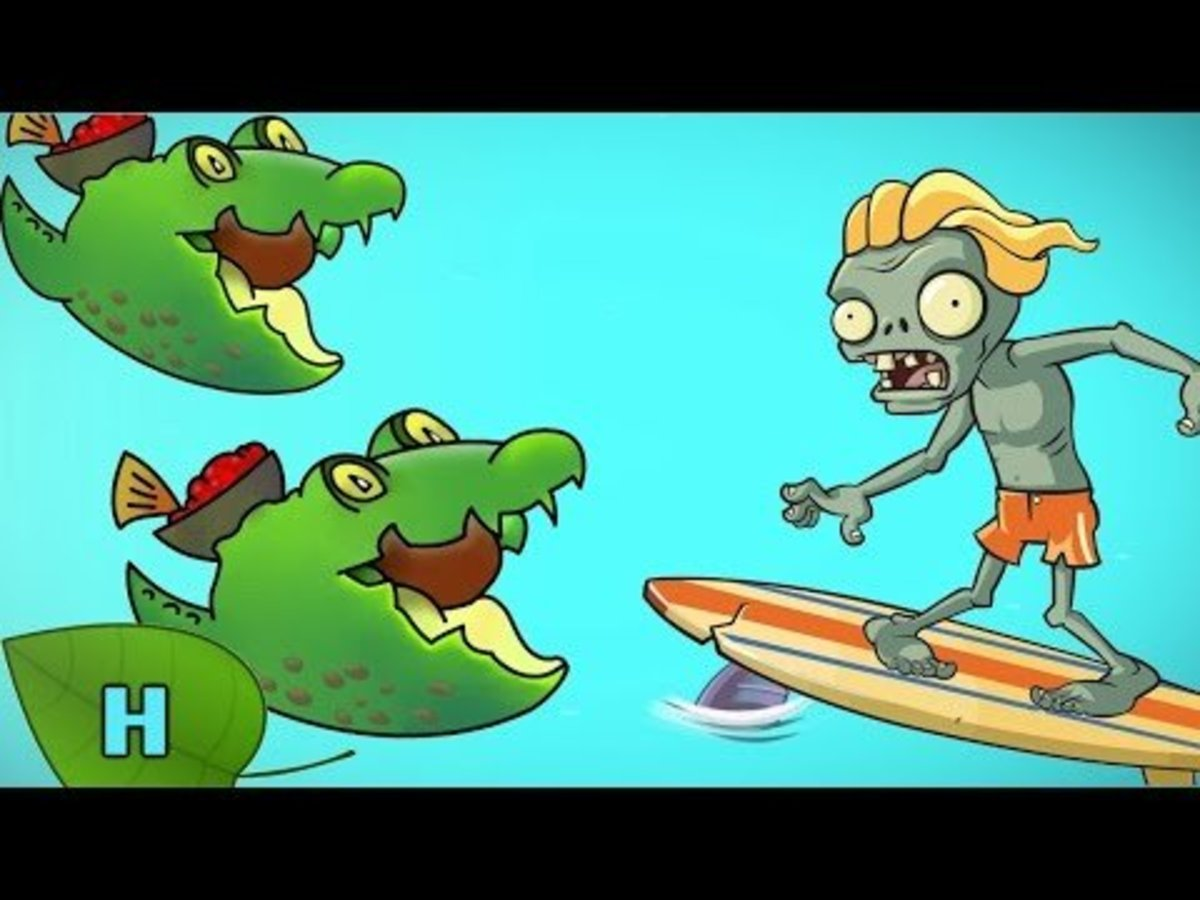 Guacodiles attack a Surfer Zombie