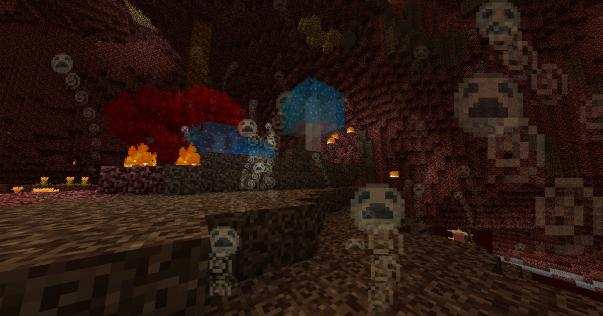 "Those who want a more ""evil""-styled base will love the upgraded soul-sand, and everyone can benefit from a creepier Nether."
