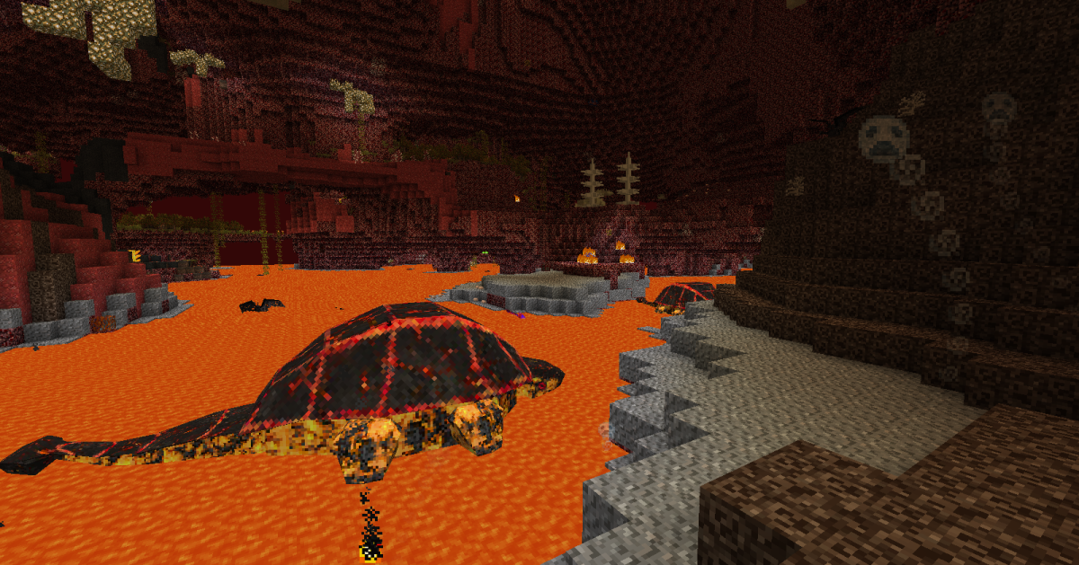 Anytime you are near lava you will need to be careful, as several new beasts like the Khalk like to hide under the surface.