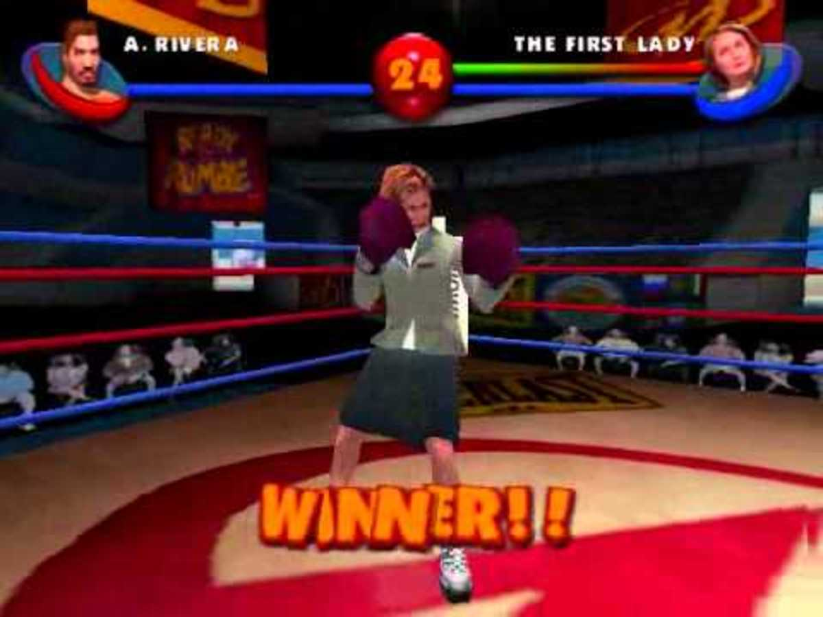 "Hillary Clinton in ""Ready2Rumble2"""
