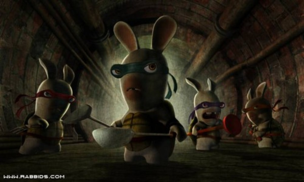Four Raving Rabbids