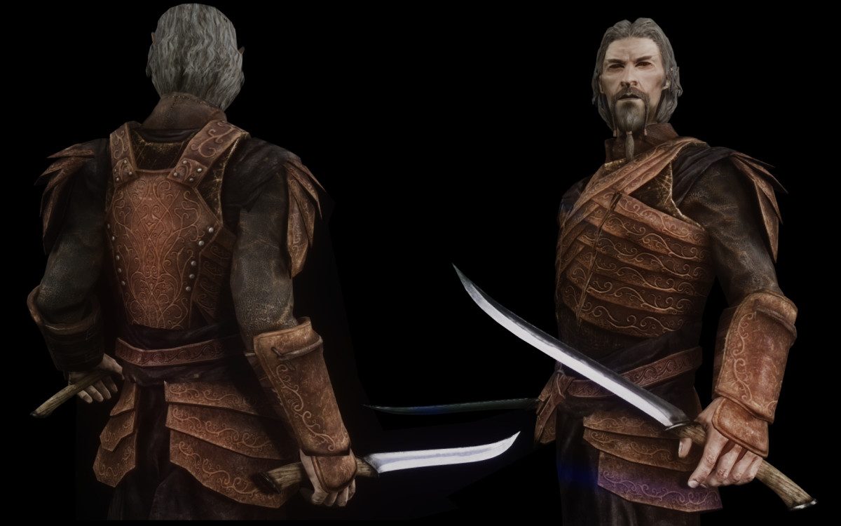"""Wonderful Bosmer armour for Bosmer player characters from the """"Bosmer Armor Pack"""" by Maty743."""