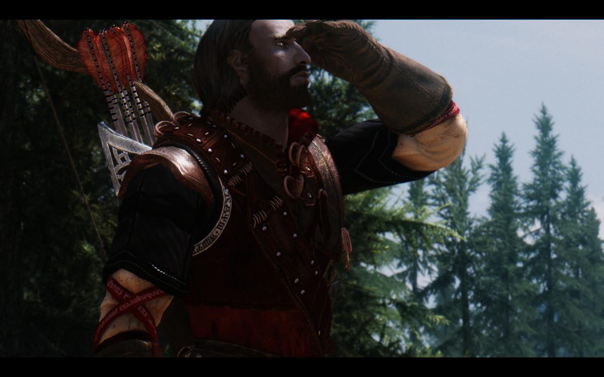 """Crimson Ranger Armor"" by Patobek adds stunning armour for ranger characters."