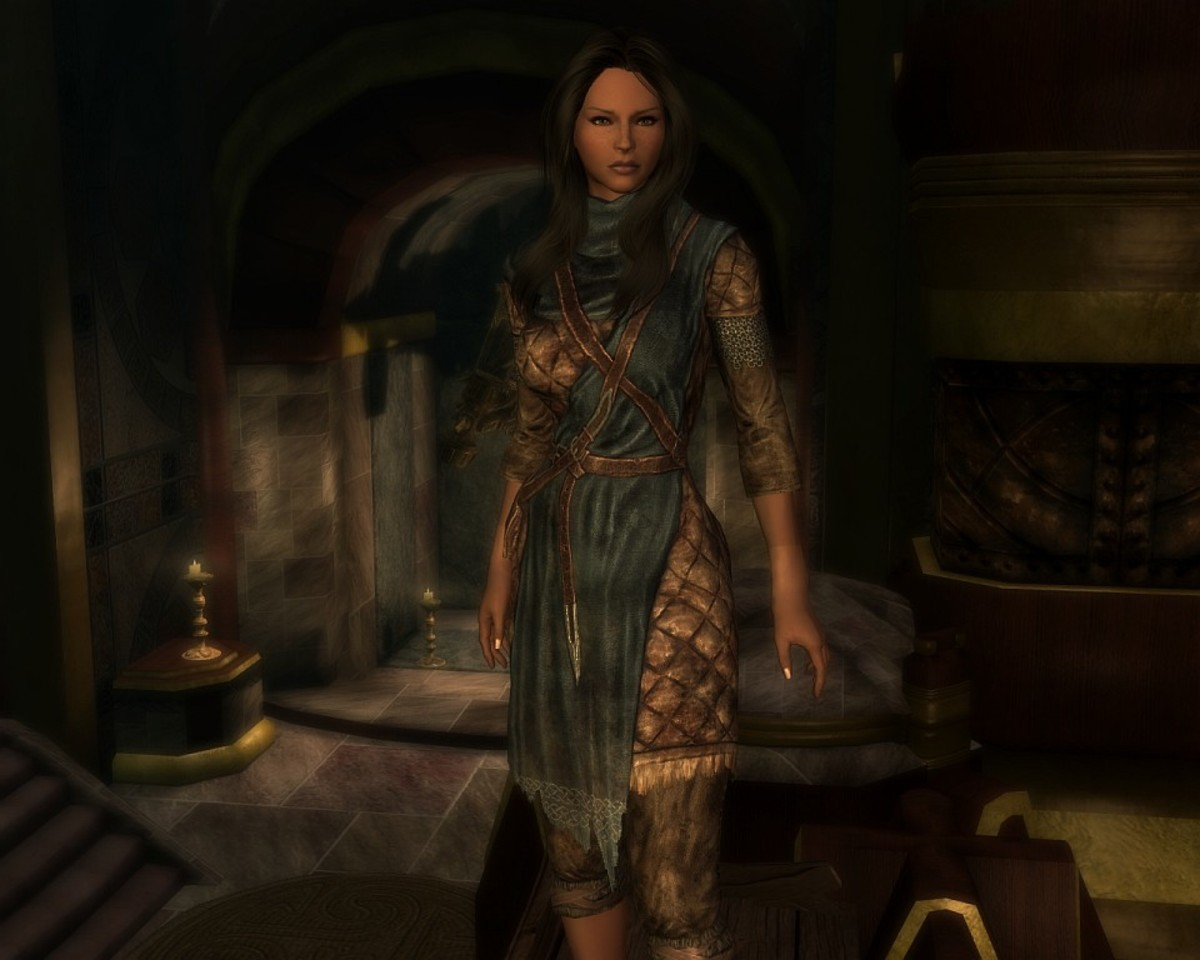 """""""Calientes Vanilla Outfits"""" for CBBE mod adjusts vanilla armour sets to fit your player character better."""