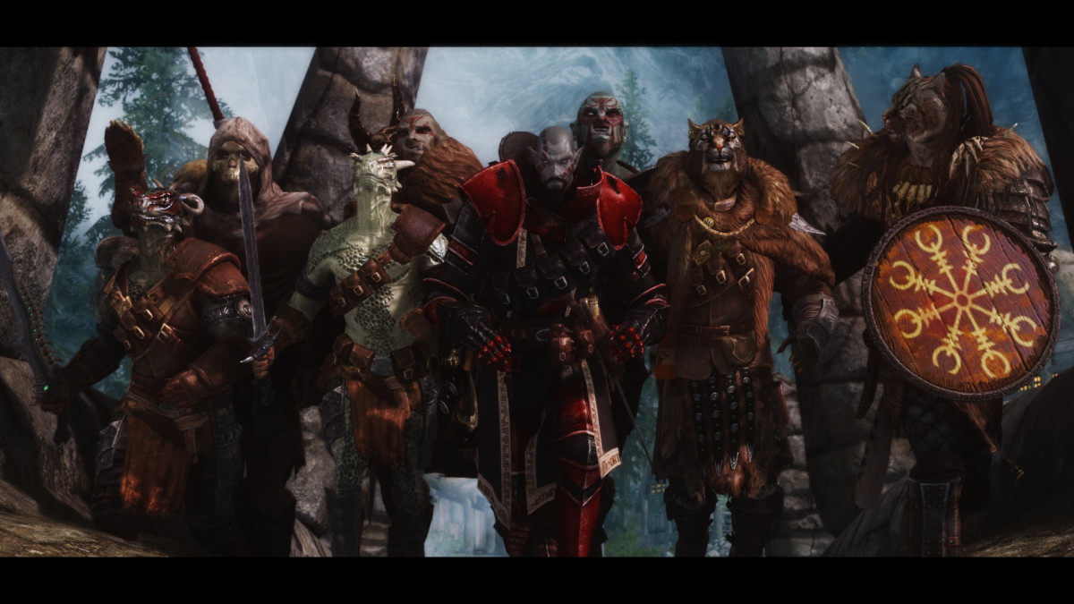 """The excellent """"Immersive Armors"""" mod for """"Skyrim"""" by hothtrooper44."""
