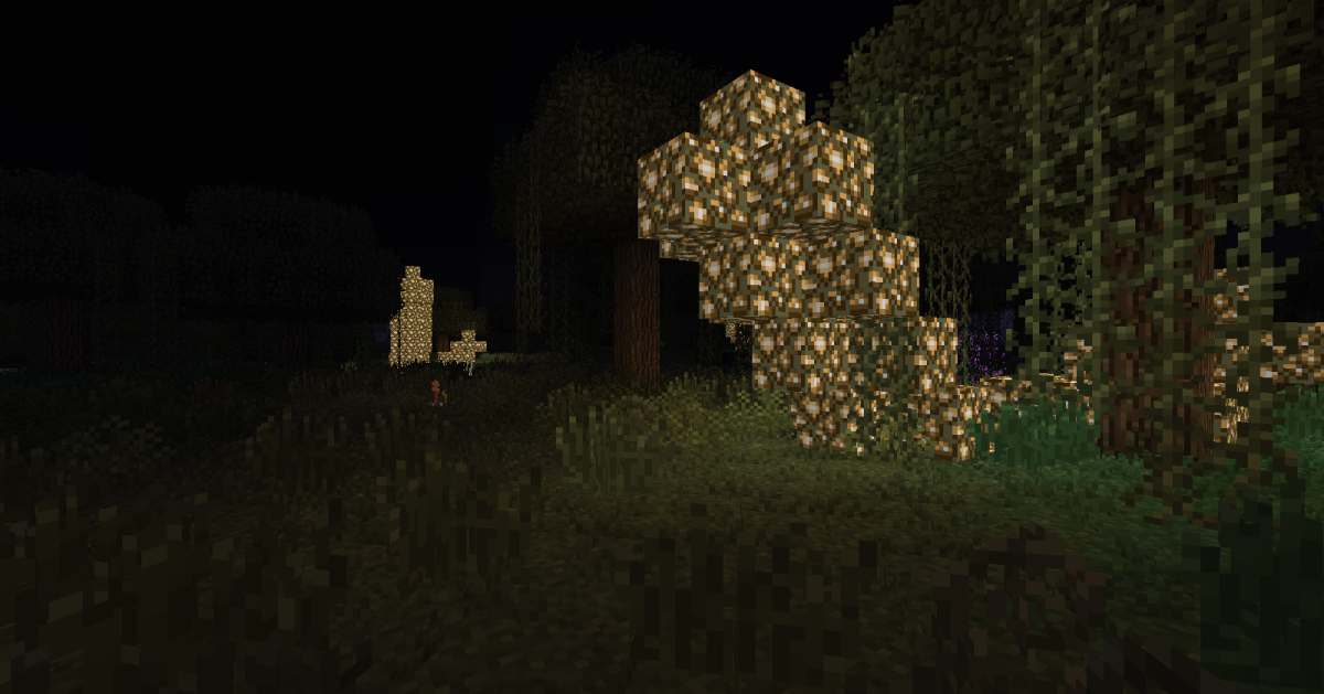 Some dimensions are wildly different from the Overworld, but others only have a handful of important changes, such as the addition of glowstone clusters.