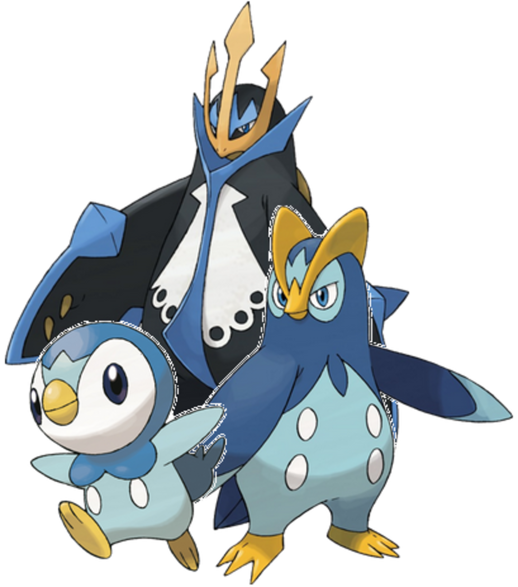 Piplup, Prinplup, and Empoleon