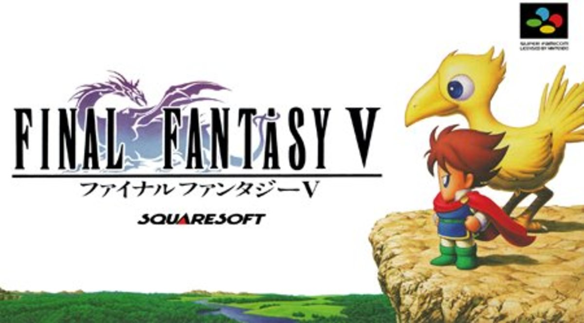 Final Fantasy V Japanese Boxart