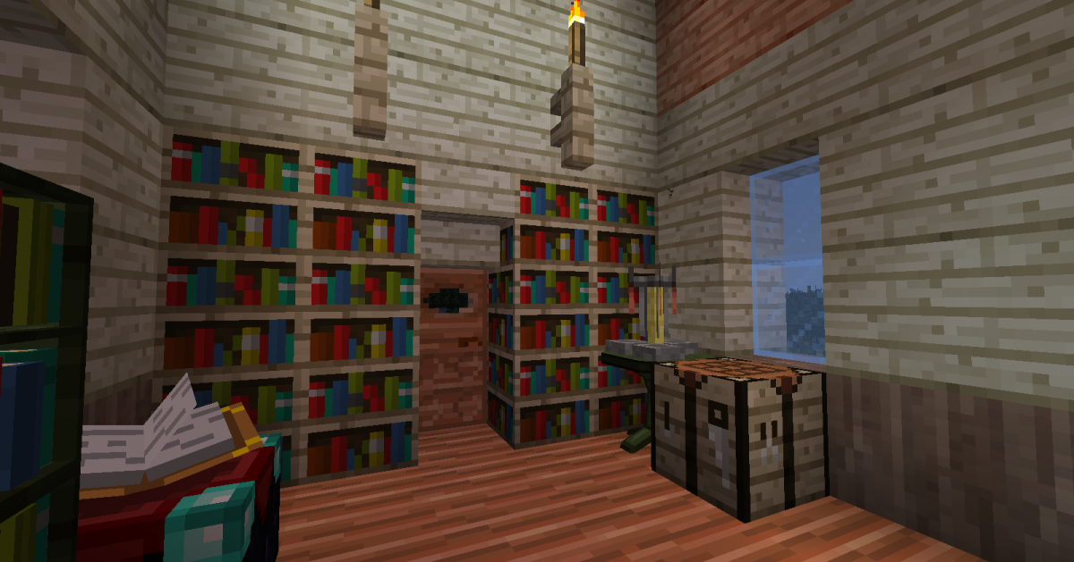 Many of the new wood types come with custom doors, fences, bookshelves, and crafting tables.