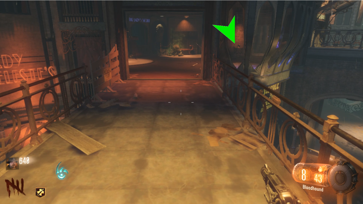 The final possible location is against one of the walls, this can also be seen from a walkway outside.