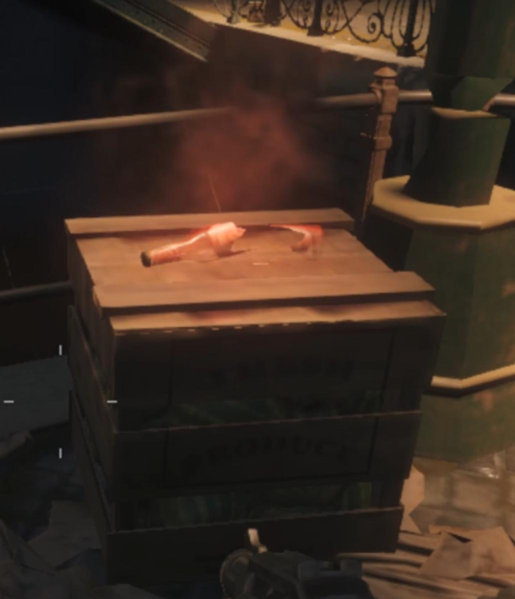 The broken red bottle marks the entrance to Juggernog.