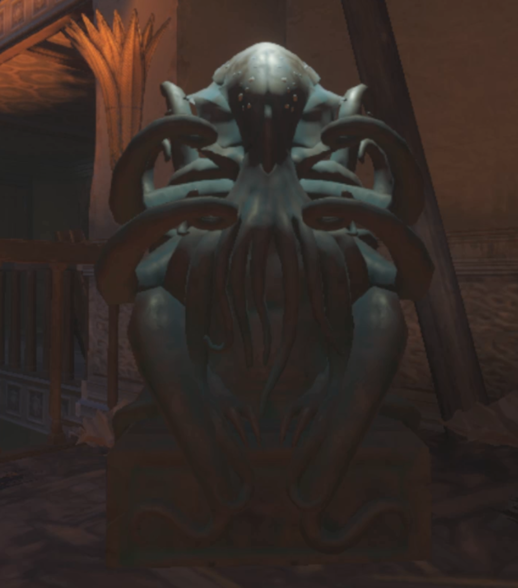 The statues look like the creature you turn to when in Beast Mode.