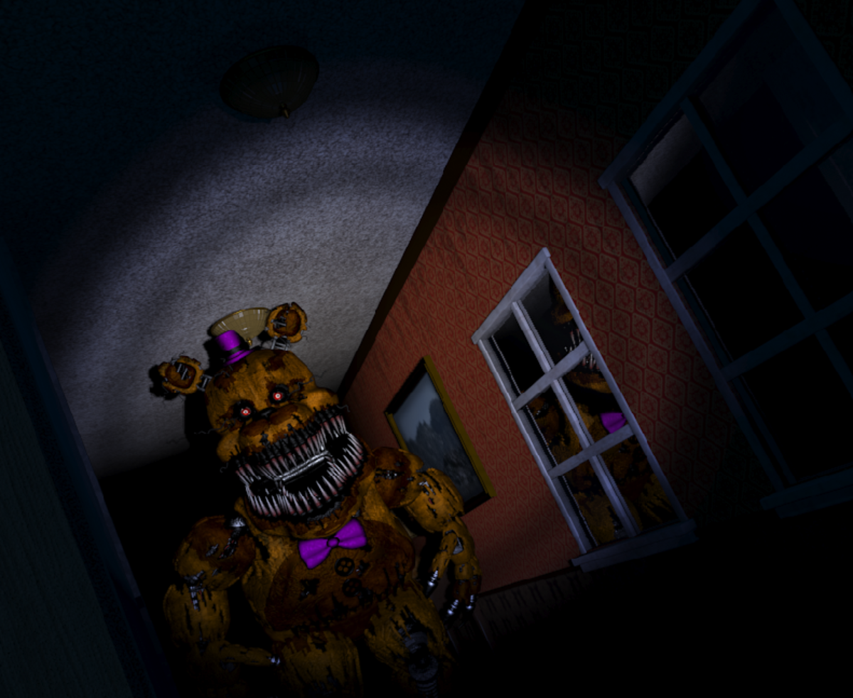 """Fredbear, the final hurdle in complete the five nights of """"Five Nights at Freddy's 4"""". He's a looker."""