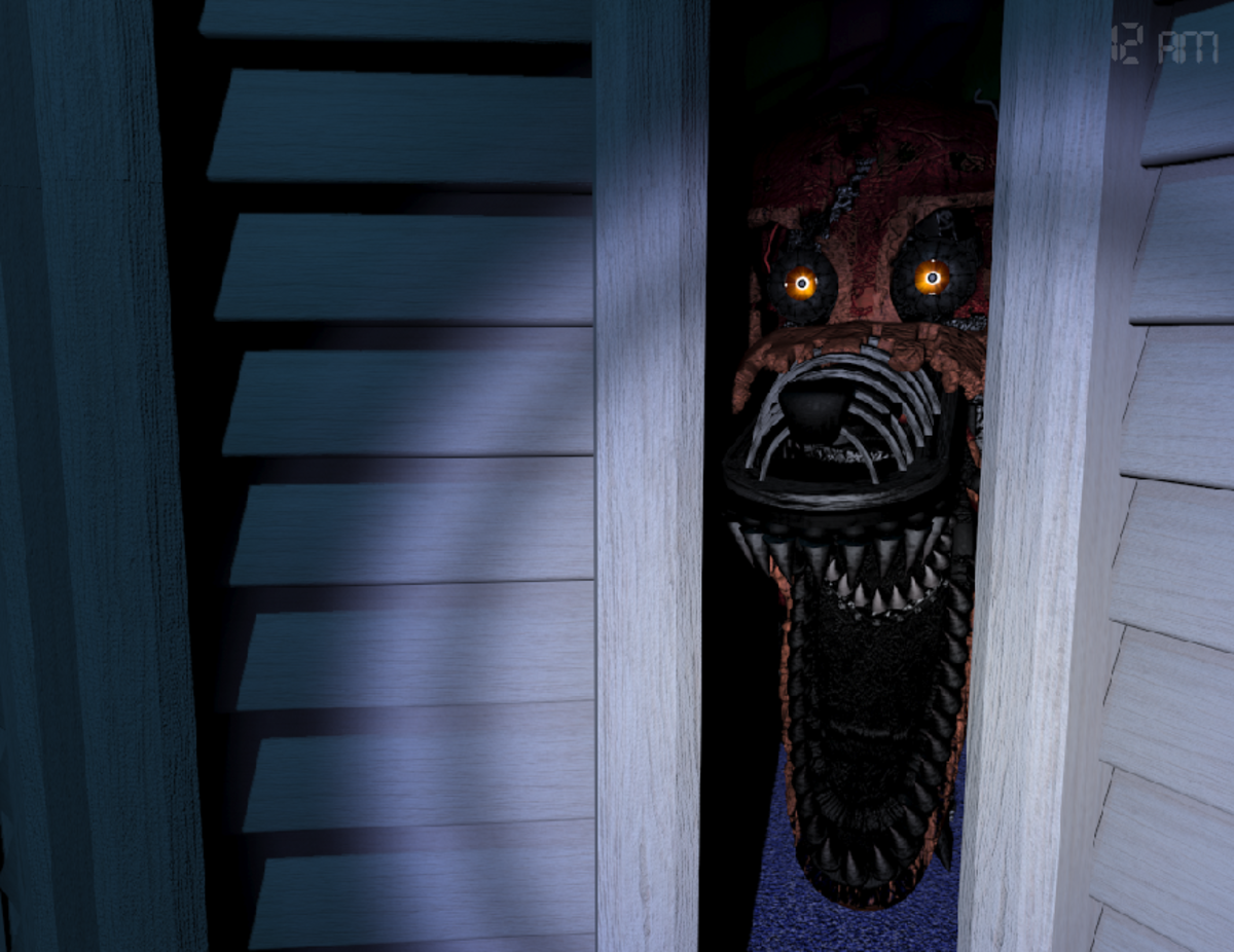 Foxy. He's possibly the nastiest piece of work conjured up by Five Nights at Freddy's 4.