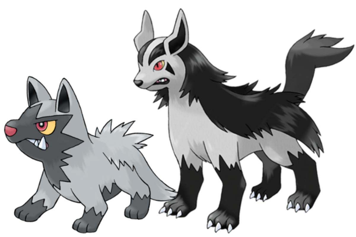 Poochyena (#261) and Mightyena (#262)